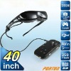 Free shipping 40 Inch Virtual Screen Video Glasses with Movies, Games and More