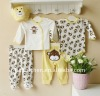 2011 autumn mom and bab baby clothes gift sets 100% cotton embroider newborn boy