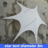 star tent dia. 8m weight 46kg and 0.12cbm