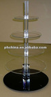 AN-567 Hot!!!! Personalized Acrylic 5 Tier Rotating Cupcake Display