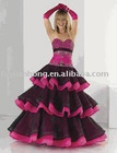 pick-upskirt color combinations prom gown / FYH-6491