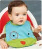 2012 High Quality Waterproof Neoprene Baby Bibs with Pocket,Chap Baby Bibs with Cute Pattern