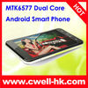 Dual Core Android 4.0 TV 5 inch phone mtk 6577