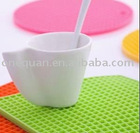 100% Silicone Honeycomb Square Cup Mats
