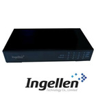 Gigabit Media Converter with 1 Fiber Port & 4 UTP Ports, Support Store-and-Forward Working Mode