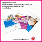 color fassion paper printing brochure
