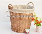 heze kaixin hand made canvas lined wicker basket
