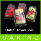 Cherry Top Decor Party wedding Favor Gift Swiss Roll Cute Cotton Cake Towel