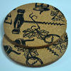 (2011 new development production)football shape cork coaster/cup mat