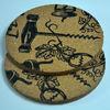 (2011 new development production)football shape cork coaster/cup mat