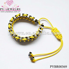 2012 fashion yellow color knitting bracelet