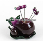 Fashion And High quanlity Eggplant Fruit Fork Salad Decoration