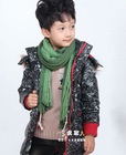 children padded clothes fashion boys leather jackets long winter coats for kids children varsity jacket