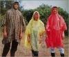 Promotional PE disposable colorful raincoat