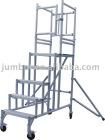 Aluminum folding mobile lift platform