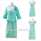 New Design Lace 3/4 Sleeve Jacket Mother Of The Bride Dresses