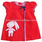 ready made european style kid clothing cord bunny jumper H2261#Red
