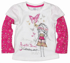 F3199#Cream Chief kids wear manufactor design girls t shirt
