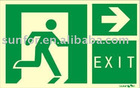 glow in dark emergency exit Signs