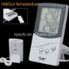 Digital Indoor / Outdoor Temperature Station LCD Displayed Thermometer