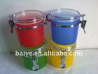 full colorful Plastic Jar / seal jar / food jar