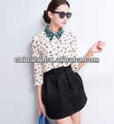 zc09065 New Arrive Swallow Printed Models Of Blouse In Chiffon