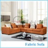 Orange Color Fabric Sofa Pictures Wood Sofa Furniture