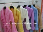 solid color 100% polyester coral fleece bathrobe
