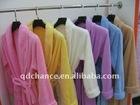 solid color 100% polyester coral fleece bathrobe