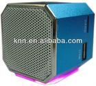 Portable mini aluminum speaker with TF card & U disk
