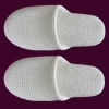 100% cotton waffle hotel slippers