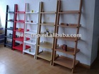 wood modern ladder bookshelf