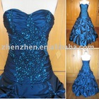 New arrival L-2114 zhenzhen taffeta beaded evening dress
