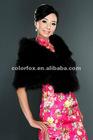 Crazy Sale Elgeant Designer Black Faux Fur Shawl Bridal Wrap Shrug Stole