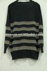 simple classic design lurex women angora pullover sweater