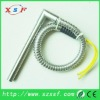 Mini right angle cartridge heater with stainless steel armor protection