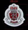 Royal badge for fashion garments