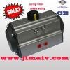 ball valve with spring return pneumatic valve actuator