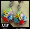 Fashion Stainless steel Murano MIillefiori Earring LF-SSE-54