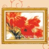 """Red tulips"" cross stitch kit"