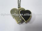 heart shape metal pocket watch