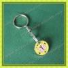 Enamel filledbutterfly metal trolley token keychain