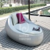 HY-3907 Top manufacturer boat shape outdoor rattan sun bed