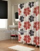 100%polyester bathroom water repellent printed shower curtains