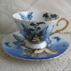 Bone china coffee cup and saucer set