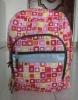 2012 fashion printing fabric school bag