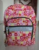 2012 fashion printing fabric school bag