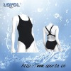 Fashion swimsuit with wide straps for women swimming