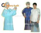 PVC Coat apron and CPE gown with thumb hole