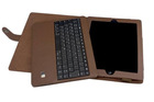 Brown color detachable bluetooth keyboard case FOR New iPad